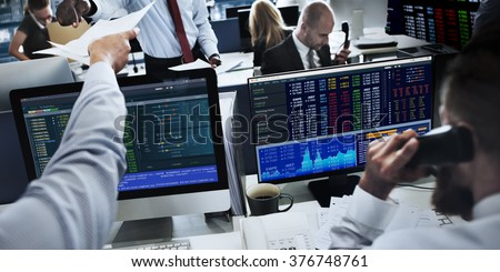 People Working Finance Stock Exchange Concept #376748761