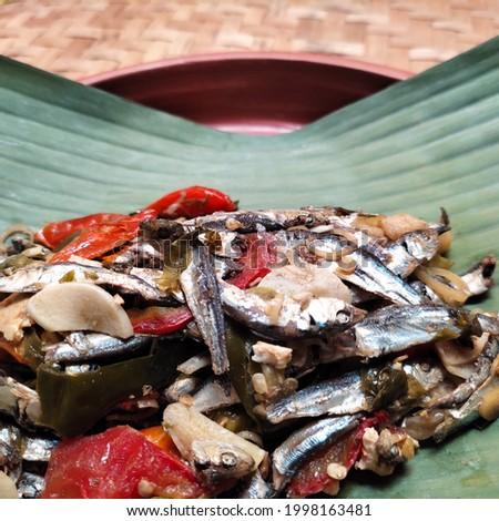 pepes ikan teri, Indonesian traditional food menu Stock fotó ©
