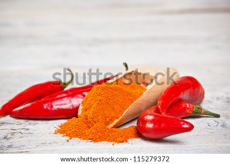 Pepper spice with fresh vegetables