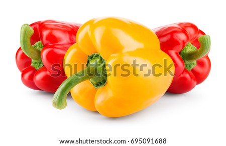 Shutterstock Peppers. Paprika. Bell pepper isolated on white. With clipping path.