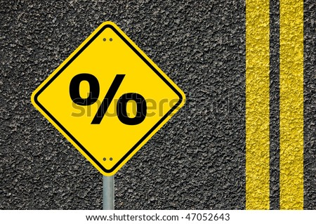 percantage sign showing business sale concept with copyspace - stock photo