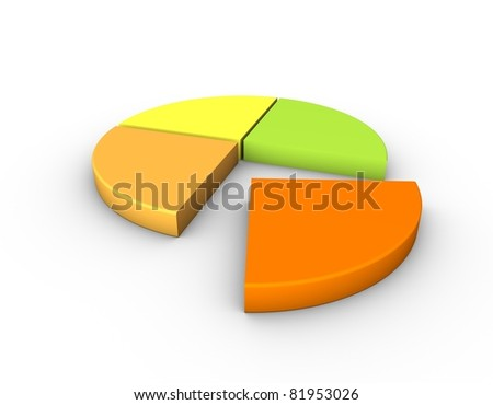 percent graph - stock photo