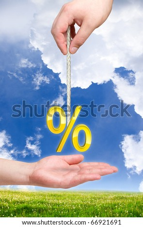 Percent on the rope. Percentage theme