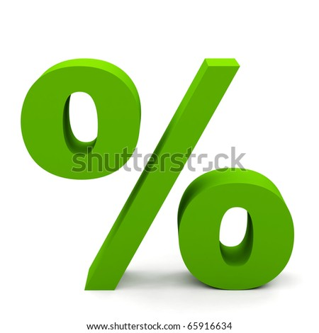 percent sign on white