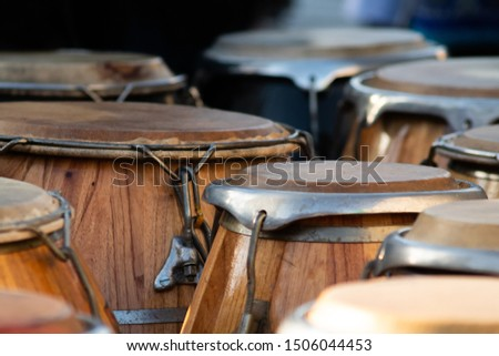 percussion instruments waiting to be played