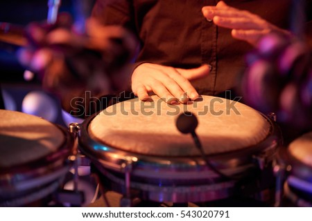 Percussionist. Performance at concert.