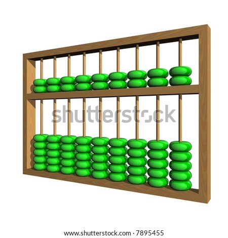 Perfect abacus isolated on white