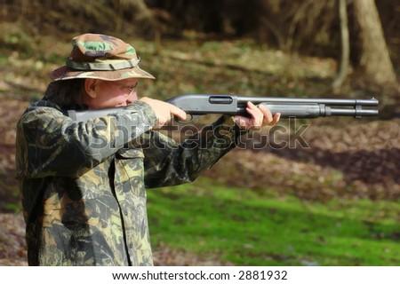 Perfect aim with a shotgun