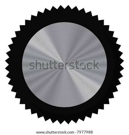 Perfect audio knob isolated on white