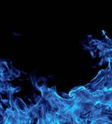 Perfect blue fire on black