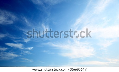 perfect blue sky