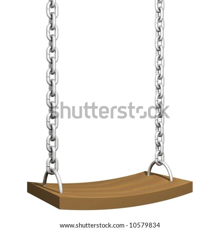 Perfect child's swing isolated on white