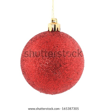 Perfect christmas ball. Isolated on a white background. - stock photo