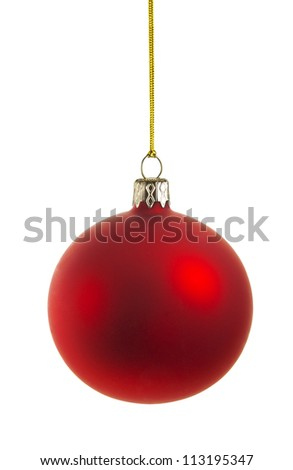 perfect christmas ball isolated on white background, CLIPPING PATH included - stock photo