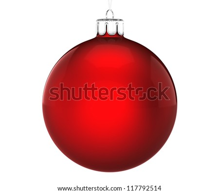 Perfect christmas ball on white background