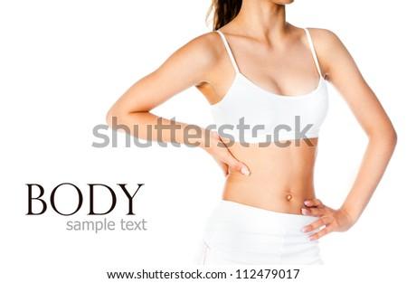 Perfect female body isolated on white background