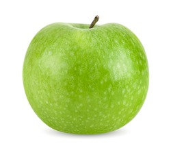 Perfect fresh green apple isolated on white background with clipping path.
