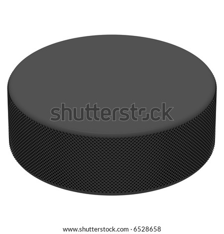 Perfect hockey puck isolated on white