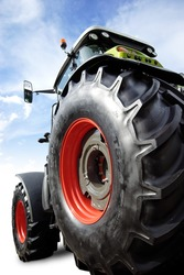 perfect new tractor with clipping path