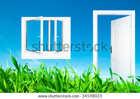 Perfect new world. Window and door to new life