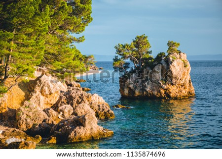 Perfect place of the calm Adriatic Sea. Location Makarska riviera, Croatia, Dalmatia region, Balkans, Europe. Scenic image of most popular european travel destination. Discover the beauty of earth.
