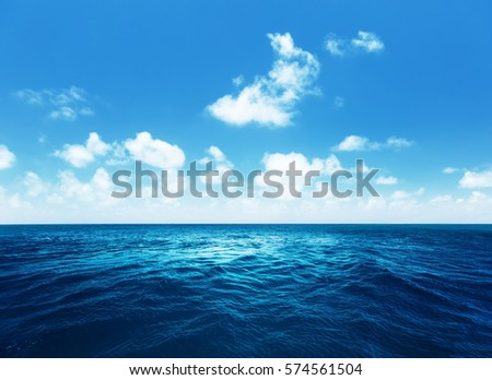 perfect sky and tropical ocean #574561504