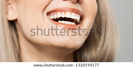 perfect smile and perfect healthy teeth