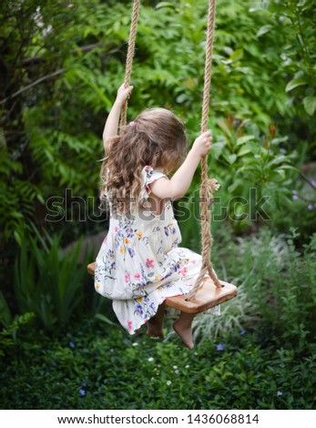 Perfect swing in a perfect garden