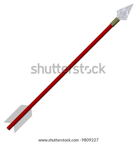 Perfect traditional arrow isolated on white