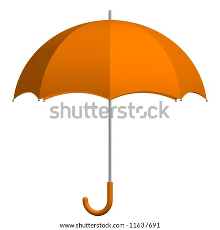 Perfect umbrella isolated on white