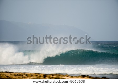 perfect wave - stock photo
