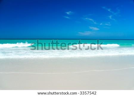 Perfect White Beach, Bay of Fires, Tasmania, Australia - stock photo