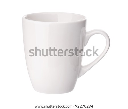 Perfect white cup isolated on white background