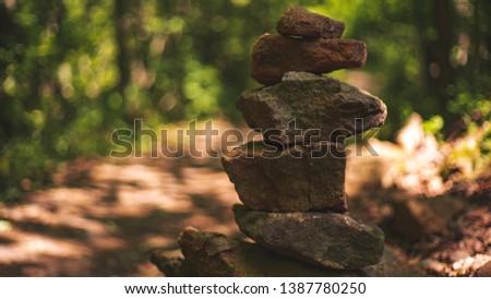 Perfectly balanced pile of rocks