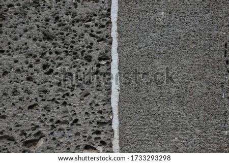perforated basalt ( female basalt) and basalt without holes (male basalt) Stock fotó ©