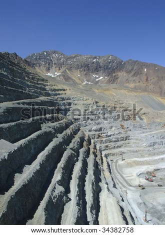 perforated copper mine in the mountains