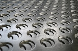 Perforated metal steel textured sheets