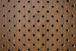 Perforated panels as an abstract background