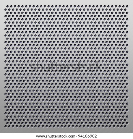 perforated plastic background - stock photo