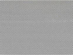 Perforated white metal panel background. White metal plate with dots. Aluminum punching metal
