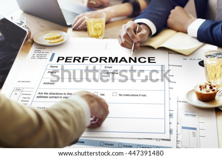 Performance Agreement Contract Legal Document Concept Stock Photo