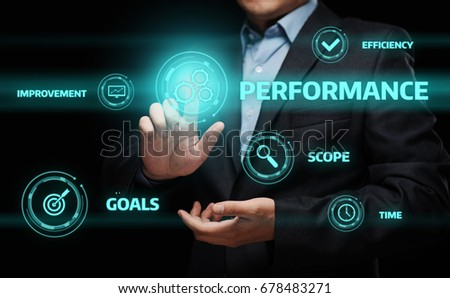 Performance Management Efficiency Improvement Business Technology concept #678483271
