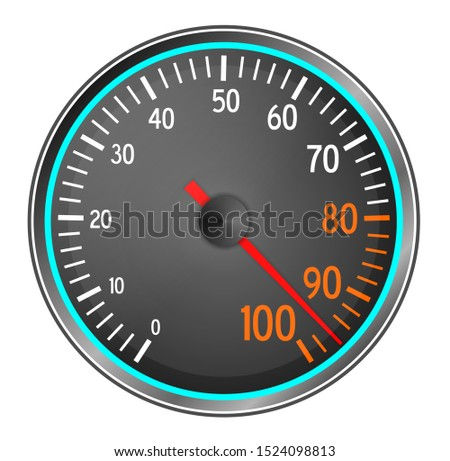 Performance meter gauge isolated on white background Foto stock ©