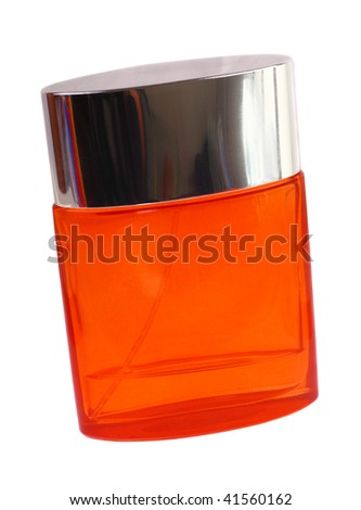 Perfume bottle isolated. White background