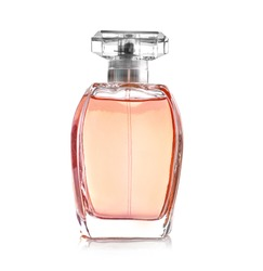 Perfume bottle on a white background
