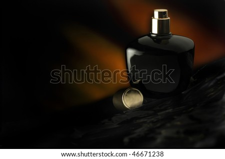 Perfume Bottle on Black background
