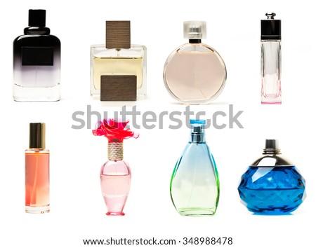 Perfume bottles collage #348988478