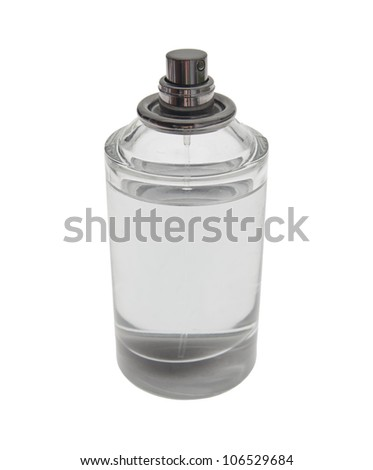 Perfume flask isolated with clipping patch.