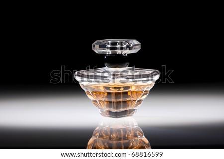 Perfume in stylish glass jar