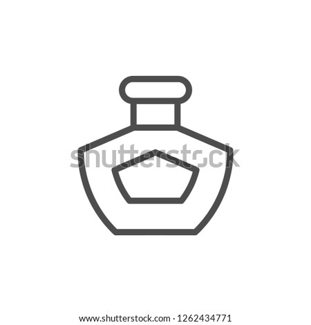 Perfume line icon isolated on white